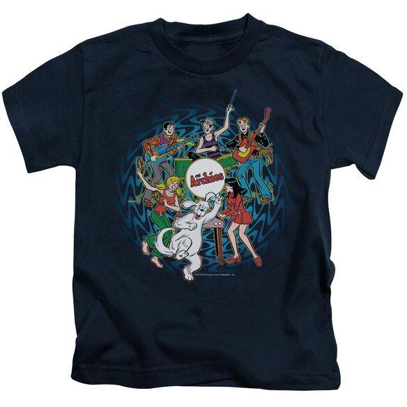Archie Comics Psychadelic Archies Short Sleeve Juvenile Navy T-Shirt