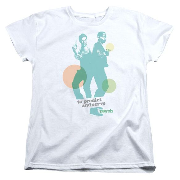 Psych Predict And Serve Short Sleeve Womens Tee T-Shirt