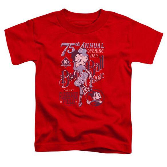 Betty Boop Boop Ball Short Sleeve Toddler Tee Red T-Shirt