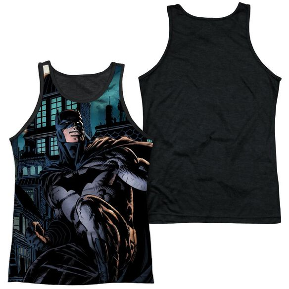 Batman Coming For You Adult Poly Tank Top Black Back