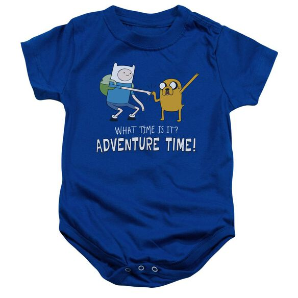 Adventure Time Fist Bump Infant Snapsuit Royal Blue