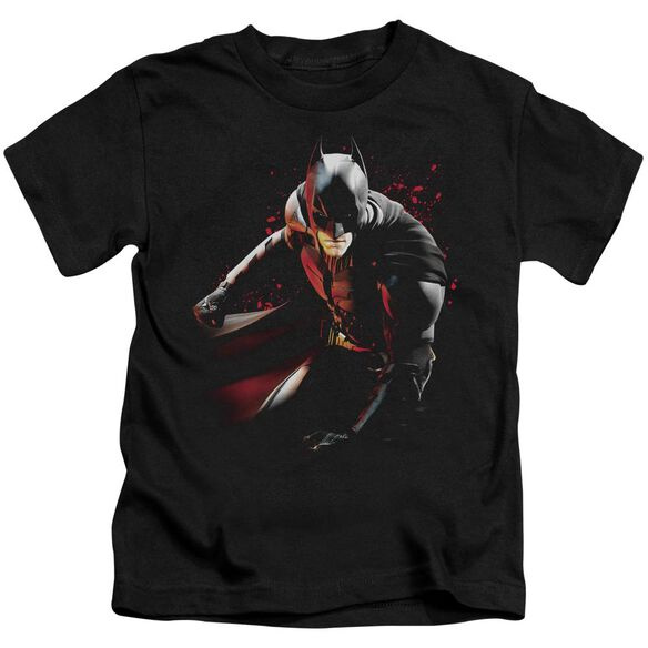 Dark Knight Rises Ready To Punch Short Sleeve Juvenile Black T-Shirt