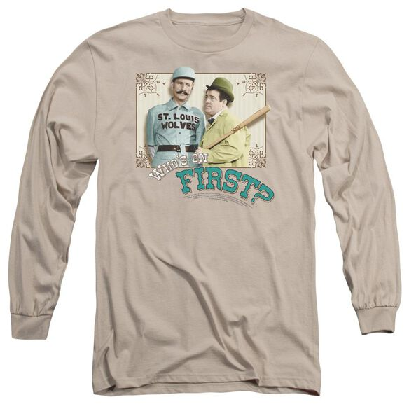 Abbott & Costello Whos On First Long Sleeve Adult T-Shirt