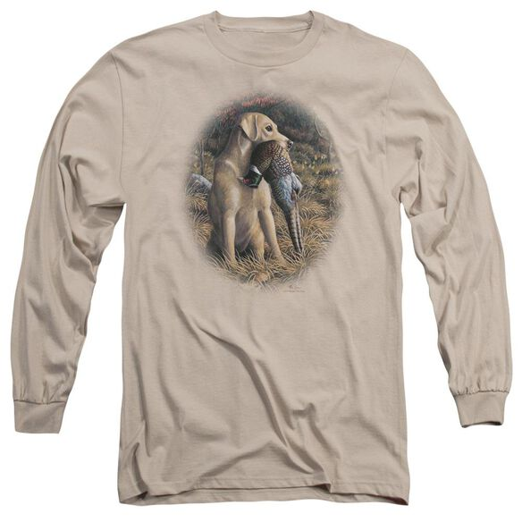 Wildlife Yellow Lab With Pheasant Long Sleeve Adult T-Shirt