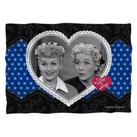 I Love Lucy Lace Of Friendship (Front Back Print) Pillow Case