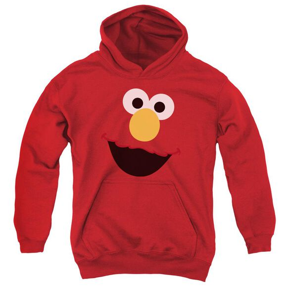 Sesame Street Elmo Face Youth Pull Over Hoodie