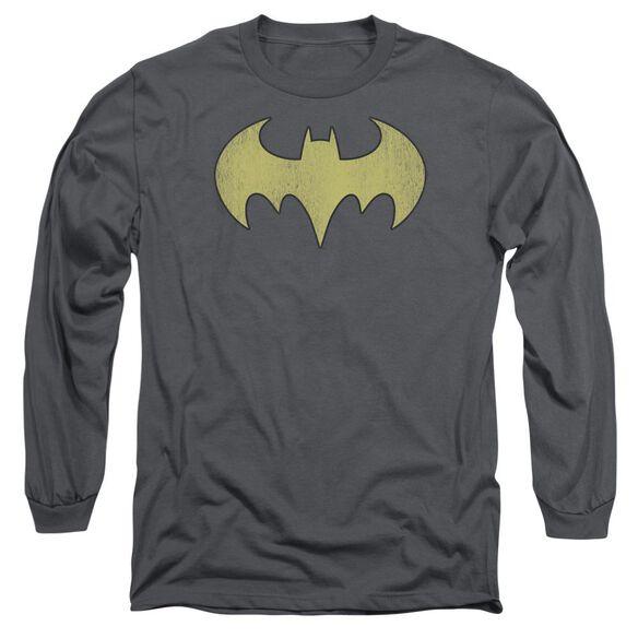Dc Batgirl Logo Distressed Long Sleeve Adult T-Shirt