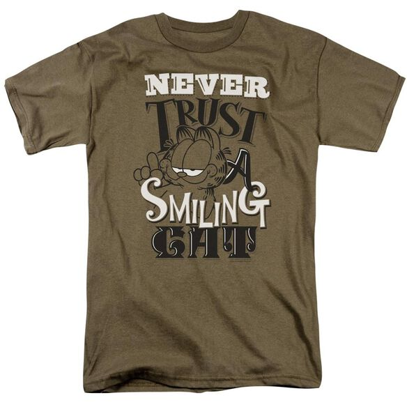 GARFIELD NEVER TRUST - S/S ADULT 18/1 - SAFARI GREEN T-Shirt
