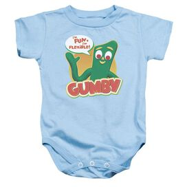 Gumby Fun & Flexible Infant Snapsuit Light Blue