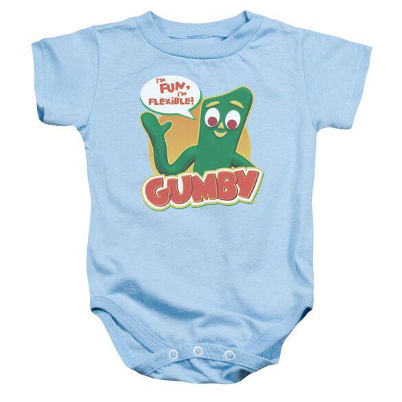 Gumby Fun & Flexible Infant Snapsuit Light Blue