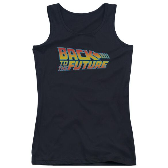 Back To The Future Logo Juniors Tank Top