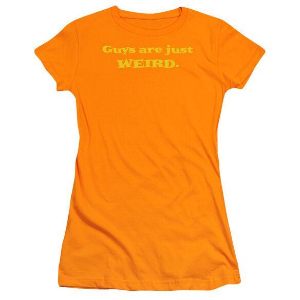 Guys Are Just Weird Short Sleeve Junior Sheer T-Shirt