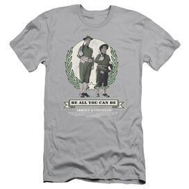 ABBOTT & COSTELLO BE ALL YOU CAN BE - S/S ADULT 30/1 - SILVER T-Shirt