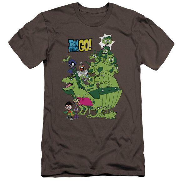 Teen Titans Go Beast Boy Stack Hbo Short Sleeve Adult T-Shirt