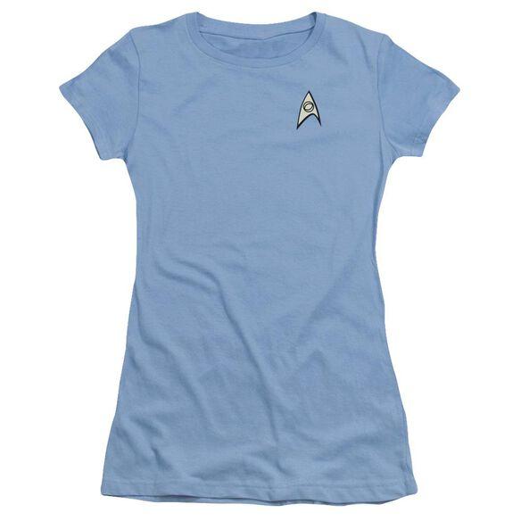 Star Trek Science Uniform Short Sleeve Junior Sheer Carolina T-Shirt