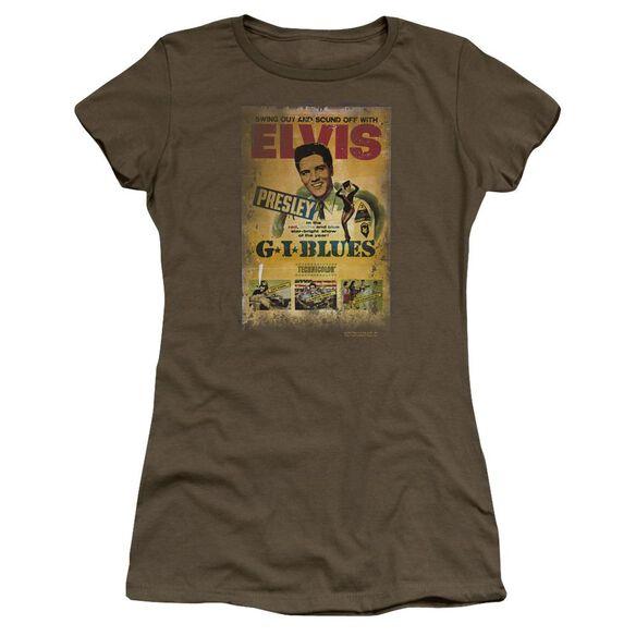 Elvis Gi Blues Poster Premium Bella Junior Sheer Jersey Military