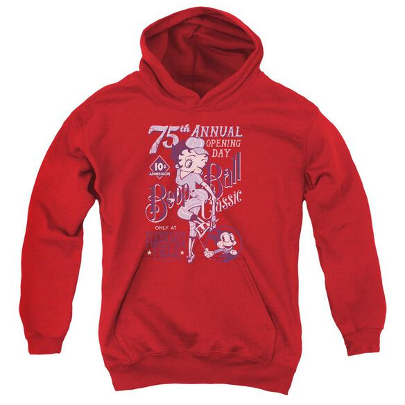 Betty Boop Boop Ball Youth Pull Over Hoodie