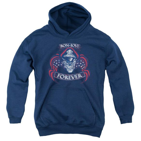 Bon Jovi Forever Skull Youth Pull Over Hoodie