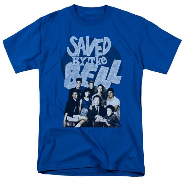 Saved By The Bell Retro Cast Short Sleeve Adult Royal Blue T-Shirt