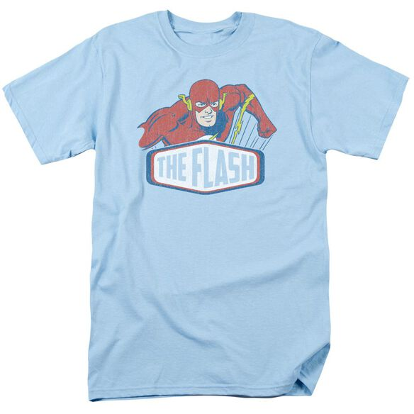 Dco Flash Sign Short Sleeve Adult Light Blue T-Shirt