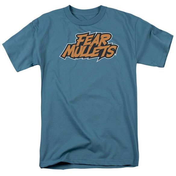 Fear Mullets Short Sleeve Adult Slate T-Shirt