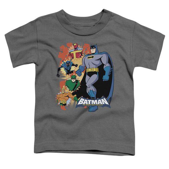 Batman Bb Batman & Friends Short Sleeve Toddler Tee Charcoal Md T-Shirt