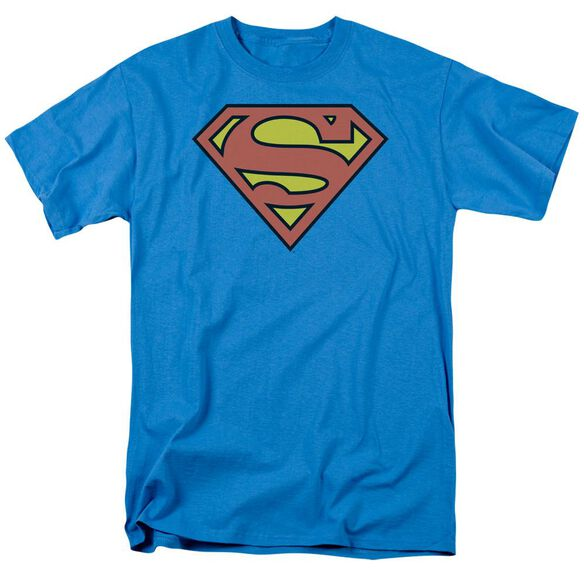 Dc Superman Logo Short Sleeve Adult Turquoise T-Shirt