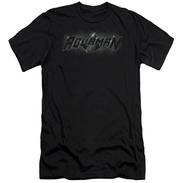 Jla Aquaman Title Short Sleeve Adult T-Shirt