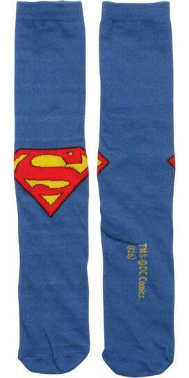 Superman Logo Crew Socks