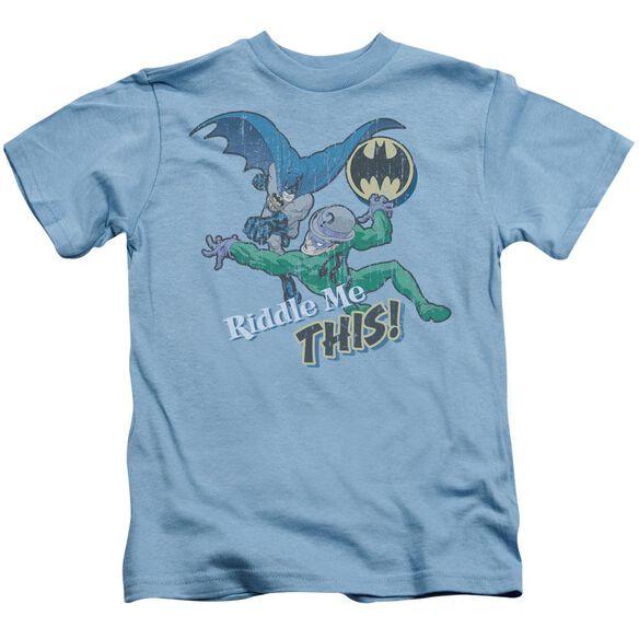 Batman Riddle Me This Short Sleeve Juvenile Carolina Blue T-Shirt