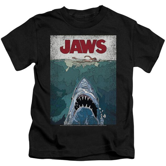Jaws Lined Poster Short Sleeve Juvenile T-Shirt