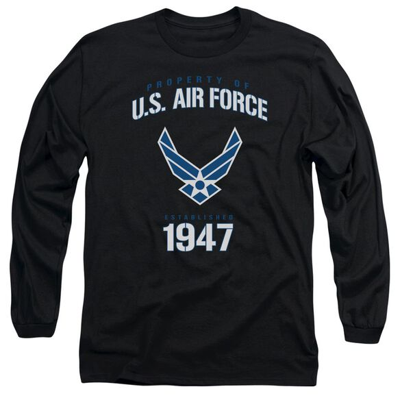 Air Force Property Of Long Sleeve Adult T-Shirt