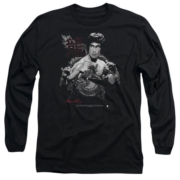 Bruce Lee The Dragon Long Sleeve Adult T-Shirt