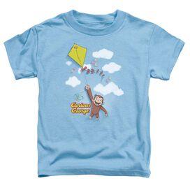 Curious George Flight Short Sleeve Toddler Tee Carolina Blue Sm Carolina Blue Sm T-Shirt