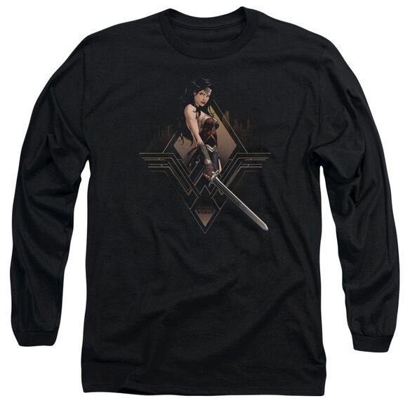 Batman V Superman City Girl Long Sleeve Adult T-Shirt