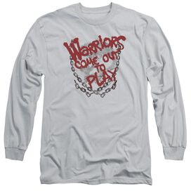 WARRIORS COME OUT AND PLAY - L/S ADULT 18/1 - SILVER T-Shirt