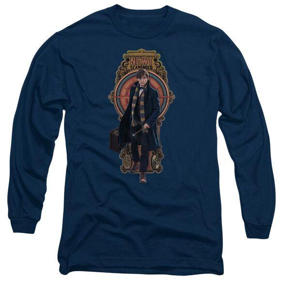 Fantastic Beasts Newt Scamander Long Sleeve Adult T-Shirt