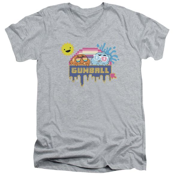 Amazing World Of Gumball Sunshine Short Sleeve Adult V Neck Athletic T-Shirt