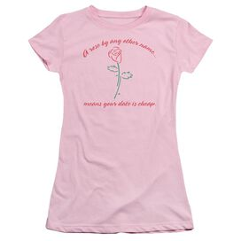 A Rose By Any Other Name Short Sleeve Junior Sheer T-Shirt