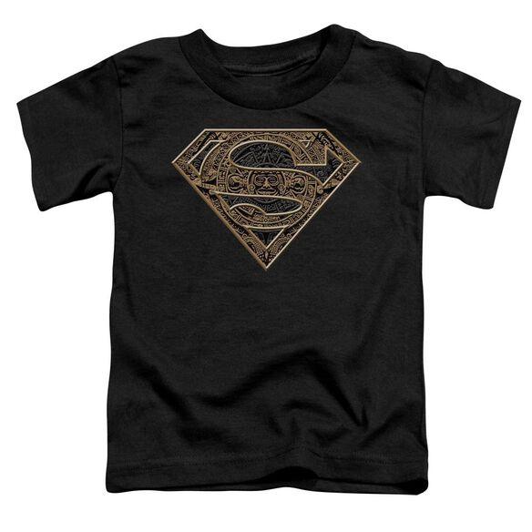 Superman Aztec Shield Short Sleeve Toddler Tee Black Sm T-Shirt