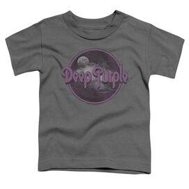 Deep Purple Smoke On The Water Short Sleeve Toddler Tee Charcoal T-Shirt