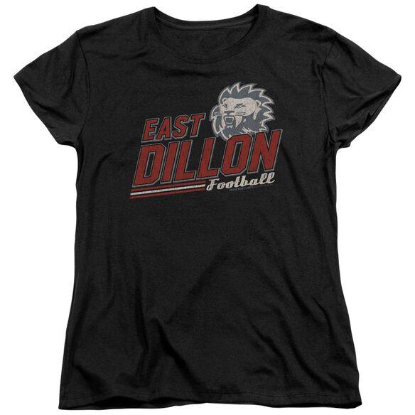 Friday Night Lights Athletic Lions Short Sleeve Womens Tee Black Black T-Shirt