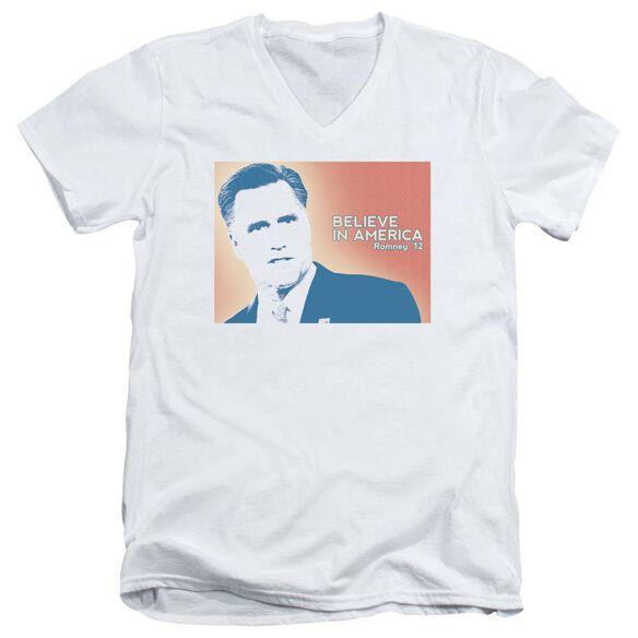 Believe In America Short Sleeve Adult V Neck T-Shirt