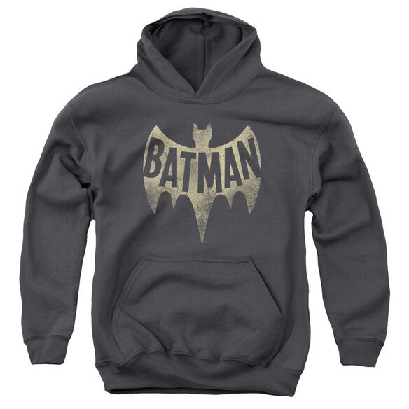 Batman Classic Tv Vintage Logo Youth Pull Over Hoodie