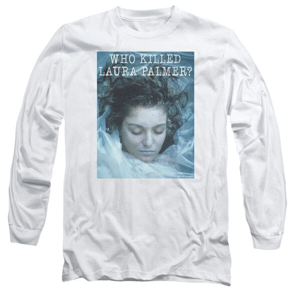 Twin Peaks Who Killed Laura Long Sleeve Adult T-Shirt