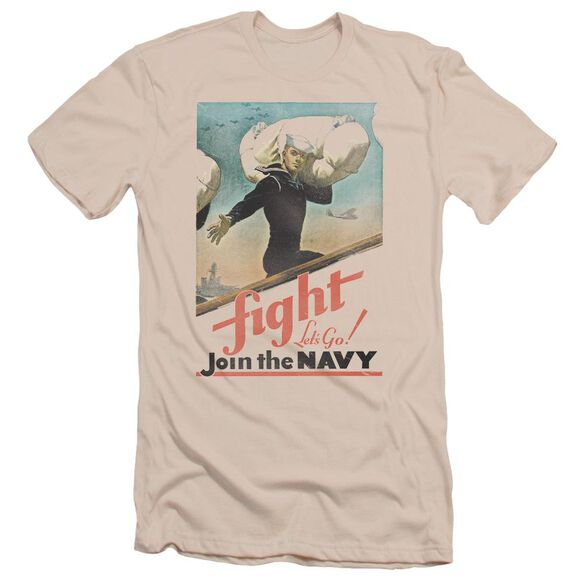 Navy Fight Let's Go Short Sleeve Adult T-Shirt