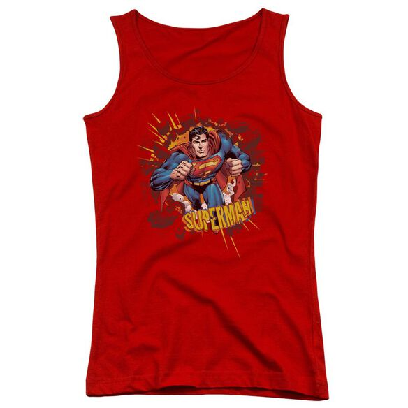 Superman Sorry About The Wall Juniors Tank Top