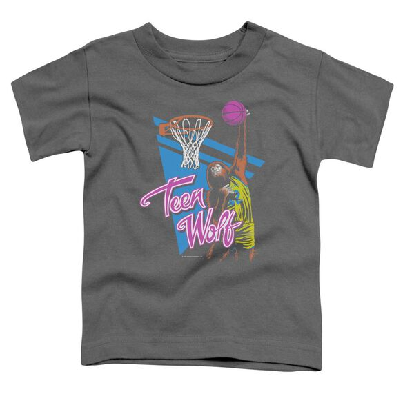 Teen Wolf Slam Dunk Short Sleeve Toddler Tee Charcoal T-Shirt
