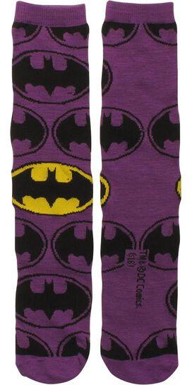 Batman Logo All Over Crew Socks