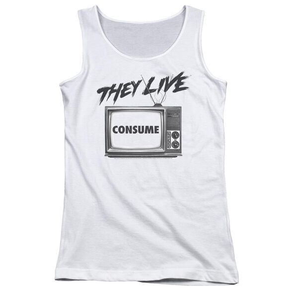 They Live Consume Juniors Tank Top